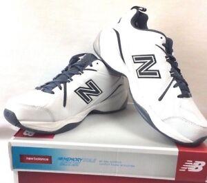 Mens New Balance 608v4 White grey  Leather Athletic Training Shoes size 12  New