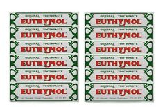 Euthymol Original Traditional Toothpaste 75ml x 12 Tubes - UK Seller--2019 Exp