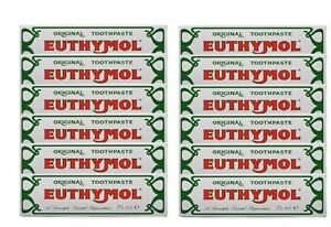 Euthymol Original Traditional Toothpaste 75ml x 12 Tubes -UK Seller--Exp 07/2022