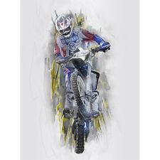 Dirt Bike Motocross Sport Graphic Canvas Wall Art Print