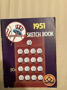 1951 New York Yankees Yearbook Sketch Book MICKEY MANTLE JOE DIMAGGIO BERRA