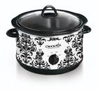 Crock Pot 4.5 Quart Manual Slow Cooker, Damask Pattern photo