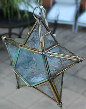 Rustic Style  Hanging Tea Light Star  Candle Holder  ( Gold / Clear )  BRAND NEW