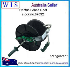 WIND UP REEL FOR ELECTRIC FENCING FENCE POLY TAPE AND WIRE FARM ROPE SOLAR-67692