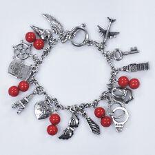 Handmade FIFTY 50 SHADES OF GREY Trilogy Inspired Charm Bracelet Wrist Wear Gift