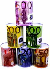 XXL Spardose Euro Scheine Metallspardosen Blech Sparbüchse Gelddose