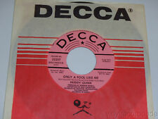 FREDDY QUINN Only A Fool Like Me / Lonesome NEAR MINT US DJ PROMO Decca 32257 NM