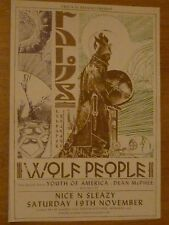 Wolf People + Youth Of America, Dean McPhee Glasgow nov.2016 concert gig poster