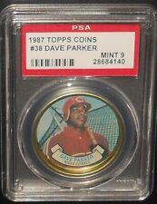PSA 9 MINT 9 - #38 Dave Parker 1987 Topps Coins Cincinnati Reds