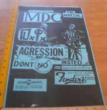 MDC DI Agression Nations of Fire 1980s Punk rock concert poster 11x17""