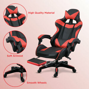 Racing Gaming Chairs Swivel Lift Office Executive Recliner PC Computer Chair UK
