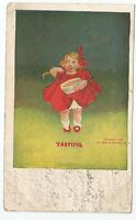 "Artist Signed 1906 postcard Bernhardt Wall ""Senses"" Series Ullman Tasting"