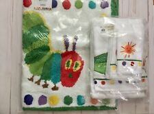 POTTERY BARN KIDS Eric Carle Very Hungry Caterpillar Towel Set +Bath mat rainbow
