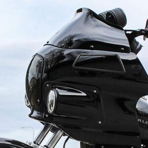 "Klock Werks 9"" Black Flare Windshield Harley FXRP Style Fairings FXR Dyna"