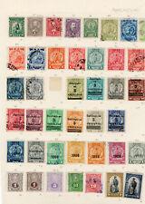 Paraguay alt-Werte, Sammlung */gestempelt auf Seiten