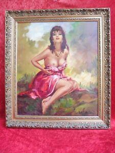 Beautiful Painting, Beautiful Southerner, Halb- Nude, Artur Müller Vienna