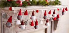 "Mud Pie 60"" Lodge Gnome Woodland Felt Christmas Garland String Tassels"