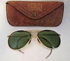 Vintage Wwii 12K Gf Ful-Vue Bausch+Lomb Calobar Pilot Aviator Sunglasses+Case