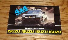 Original 1981 Isuzu 4x4 Truck Sales Brochure 81