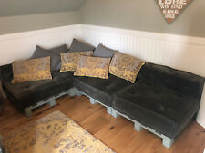 Sofa Sitzecke Schlafcouch Schlafsofa inkl. Paletten vintage industrial shabby