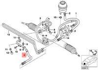 Genuine BMW E46 Coupe Sedan Hydro Steering Oil Return Pipe OEM 32411094953