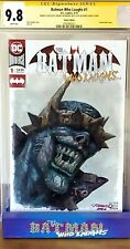 Batman Who Laughs #1 BLANK CGC SS 9.8 signed OIL PAINT SKETCH Johnny Desjardins