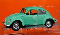 VW VOLKSWAGEN BEETLE 1:24 Scale Toy Diecast Car Model Die Cast Models Green