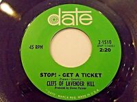Clefs Of Lavender Hill Stop Get A Ticket / First Tell My Why 45 Vinyl Record