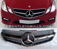 Mercedes W207 Grille E Class Coupe and Cabrio Black and Chrome AMG Look