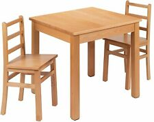 Kids Natural Solid Wood Table and Chair Set for Classroom, Playroom, Kitchen New