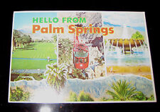 Vintage Hello From PALM SPRINGS California Souvenir Unused Postcard CA 60s Tram