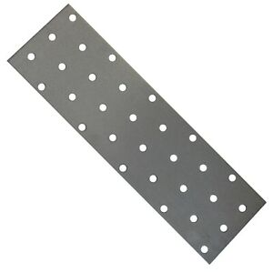 12 x Flat Joining Metal Plates Brackets For Wood Garden Sleepers l 200 x 60x 2mm