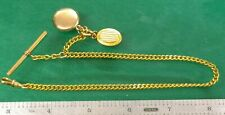 T-Bar Pocket Watch Chain Fob Gold Filled #3 - Watchmaker Replacement