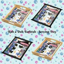 Rub a Dub Dogs Cats in a Tub Serving Tray, Pet Photo Lovers Kitchen Tray
