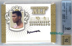 2010 SPORT KINGS AUTO GOLD: MUHAMMAD ALI/10 ON CARD AUTOGRAPH BGS 9/10 GREATEST