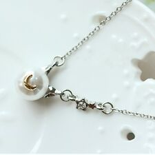 Sailor Moon 20th Crystal Anniversary Luna Artemis Pearl Pendant Necklace Anime