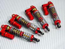 Axial SCX10 Jeep Honcho METAL PiggyBack SUSPENSION SHOCKS 120MM RED/GOLD (4 pcs)
