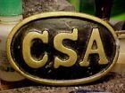 Civil War CSA  Army  Brass CSA Buckle