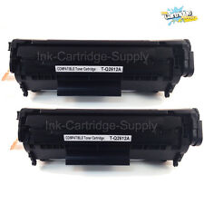 2x Q2612A 12A Black Toner Cartridge for HP LaserJet 1018  1020 1022 1012n