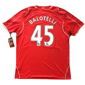2014/15 Liverpool Home Jersey #45 BALOTELLI 3XL Soccer Italy Super Mario RED NEW