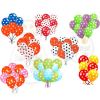 50X Polka Dot Spot Spotty Style Party decoration Printed Latex Birthday Balloons