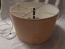 "Mid-Century Modern Large Ceiling Hanging Drum Lamp Shade 20"""
