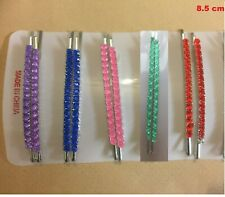 5xpair Diamante Crystal Kirby silver Hair Clip Pin Slide Grip Girl Ladies Party