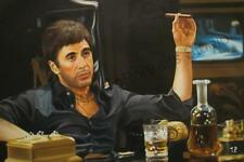 Scarface, Tony Montana - Original Hand Painted Movie Poster Oil Canvas Painting