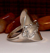 SPOON RING , STERLING 925 SILVER RING ,  ANTIQUE SILVER RING , IDEAL FOR XMAS