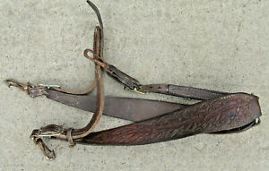 Vintage Tooled Leather Horse Harness Breast Collar