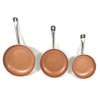 FGY Non Stick Copper Ceramic 3 pcs. Induction Bottom Frying Pan Skillet Set