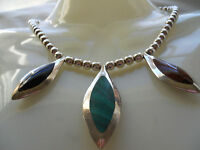 HEAVY 82.50G REVERSIBLE 950 STERLING SILVER SQUASH BLOSSOM BALL CHAIN NECKLACE