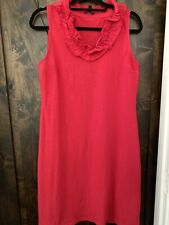 TALBOTS WOMENS DRESS SIZE MED RED NWOT