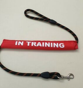 Dog Lead Sleeve red in training